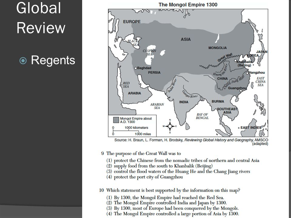 Global Review  Regents