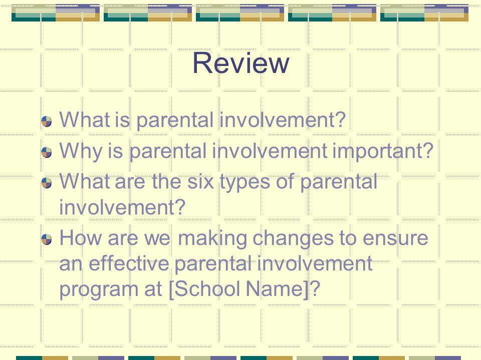 Action research paper on parental involvement activities