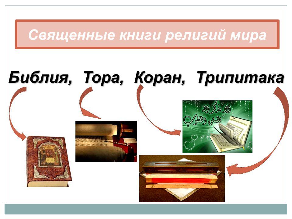 Священные книги религий мира Библия, Тора, Коран, Трипитака