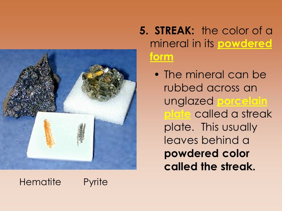 HOW TO IDENTIFY MINERALS What makes minerals different from each ...