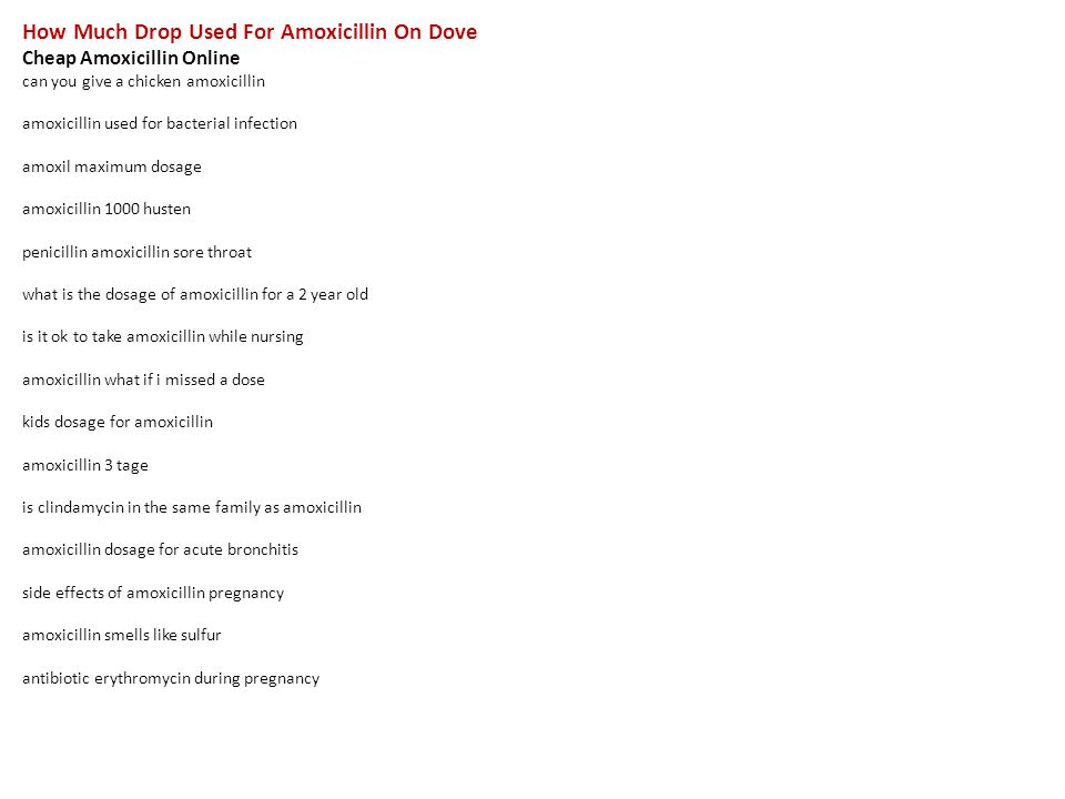 amoxicillin what is it used for