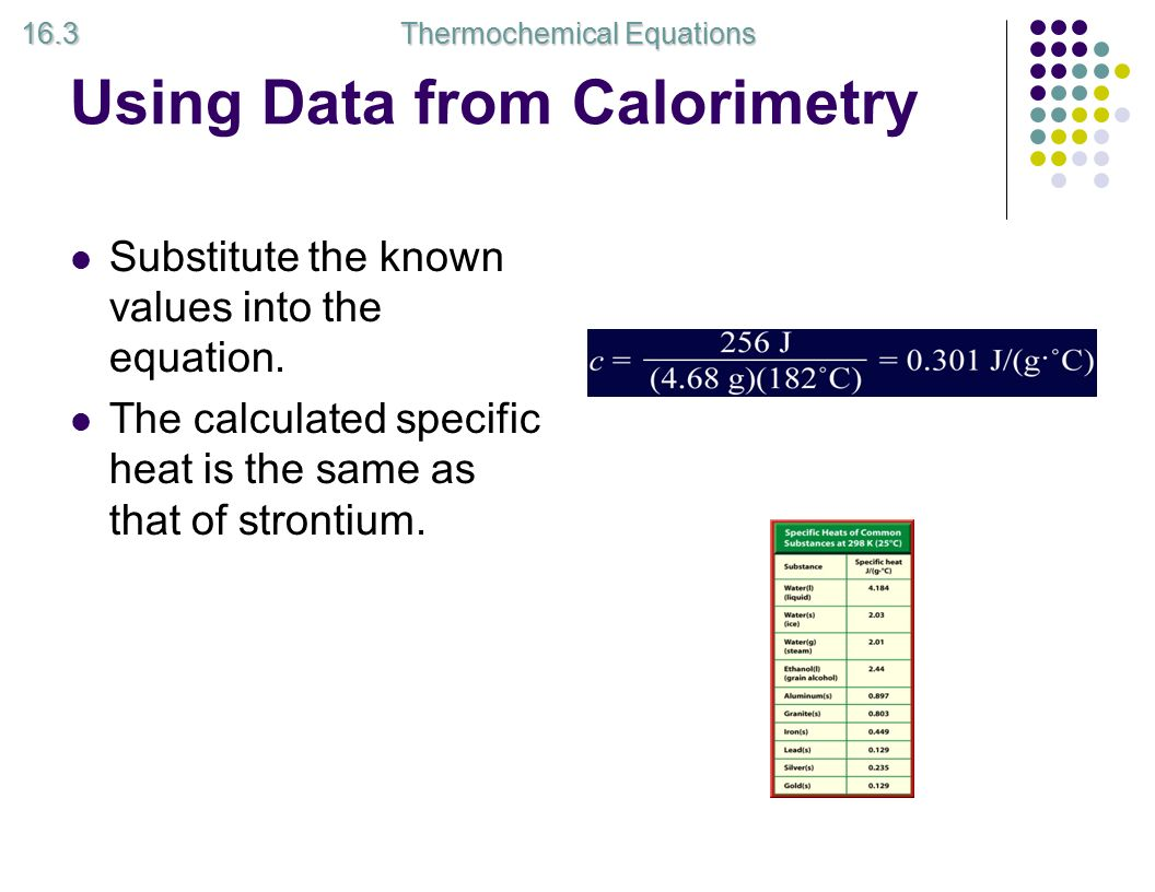 Unit 12 thermodynamics chapter 16 thermodynamics definition a using data from calorimetry substitute the known values into the equation biocorpaavc
