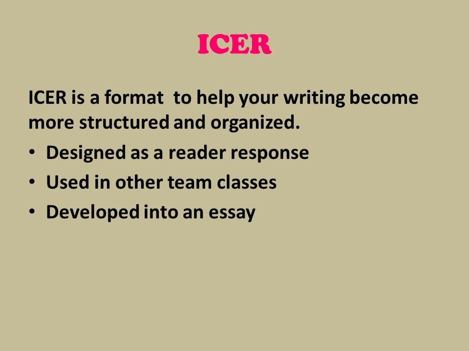 reading response essay format