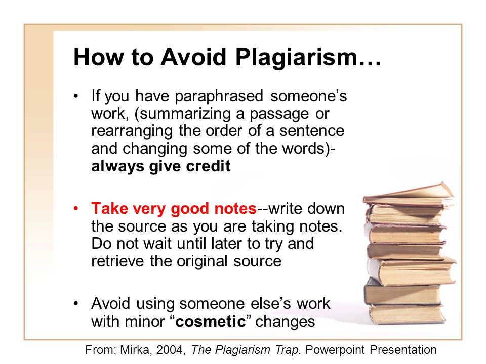 Plagiarism in a sentence