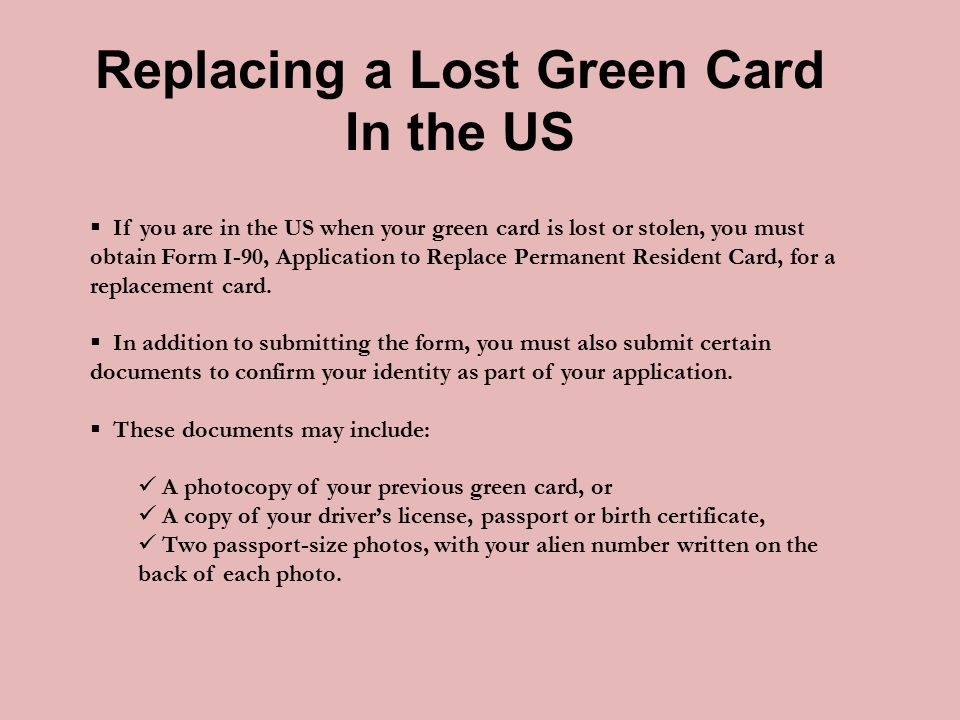What To Do If Your Green Card Is Lost Or Stolen Us Immigration