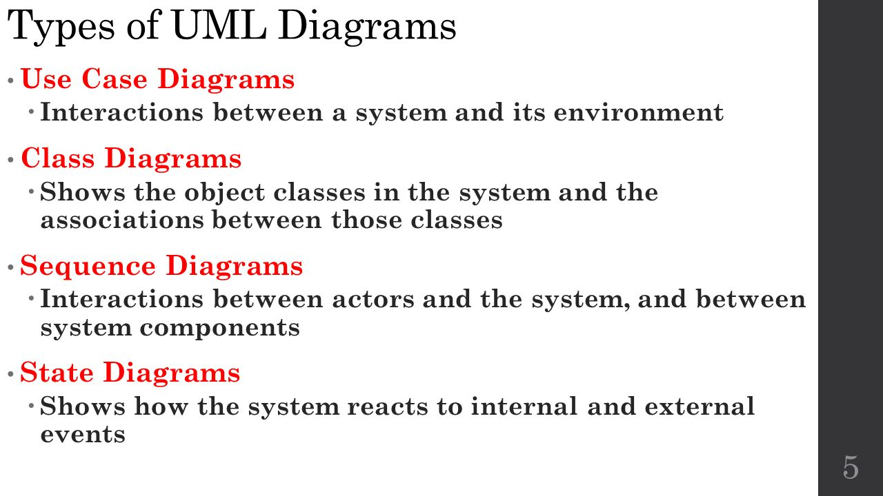 System modeling and the unified modeling language uml cs ppt 5 types pooptronica