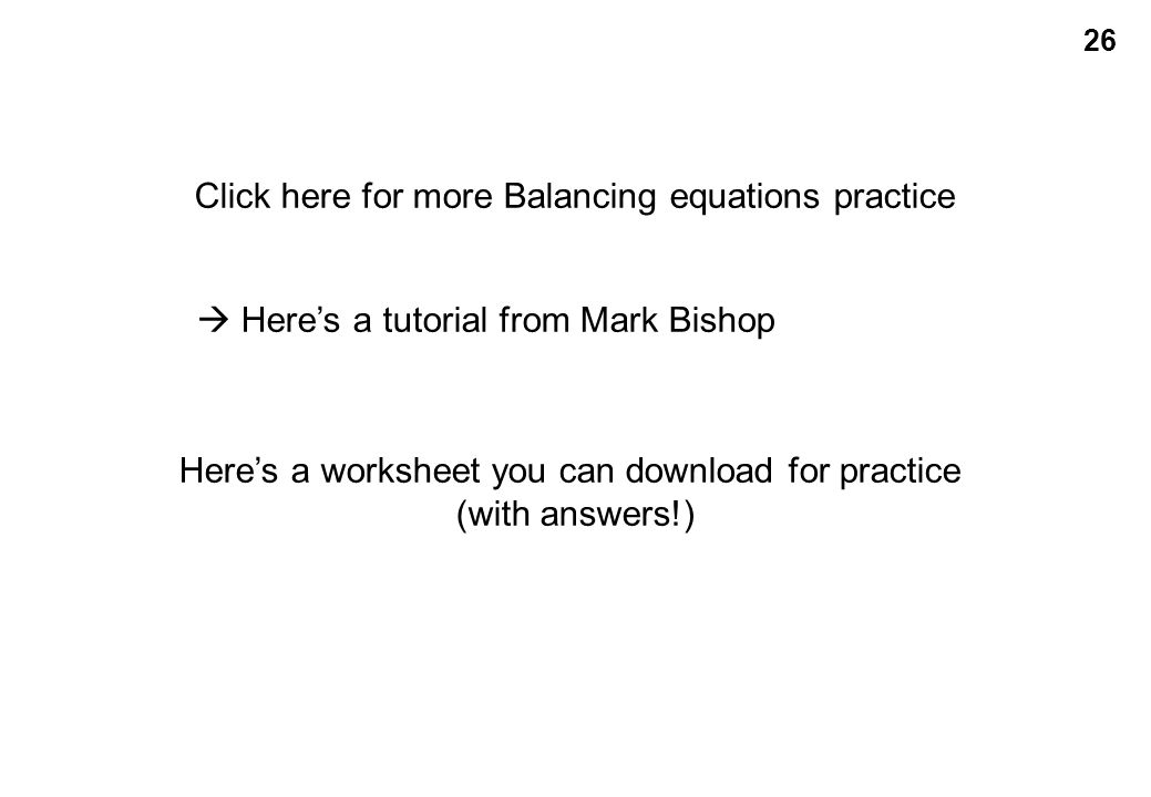 Balancing Equations Practice Worksheet Answer Key - Tessshebaylo