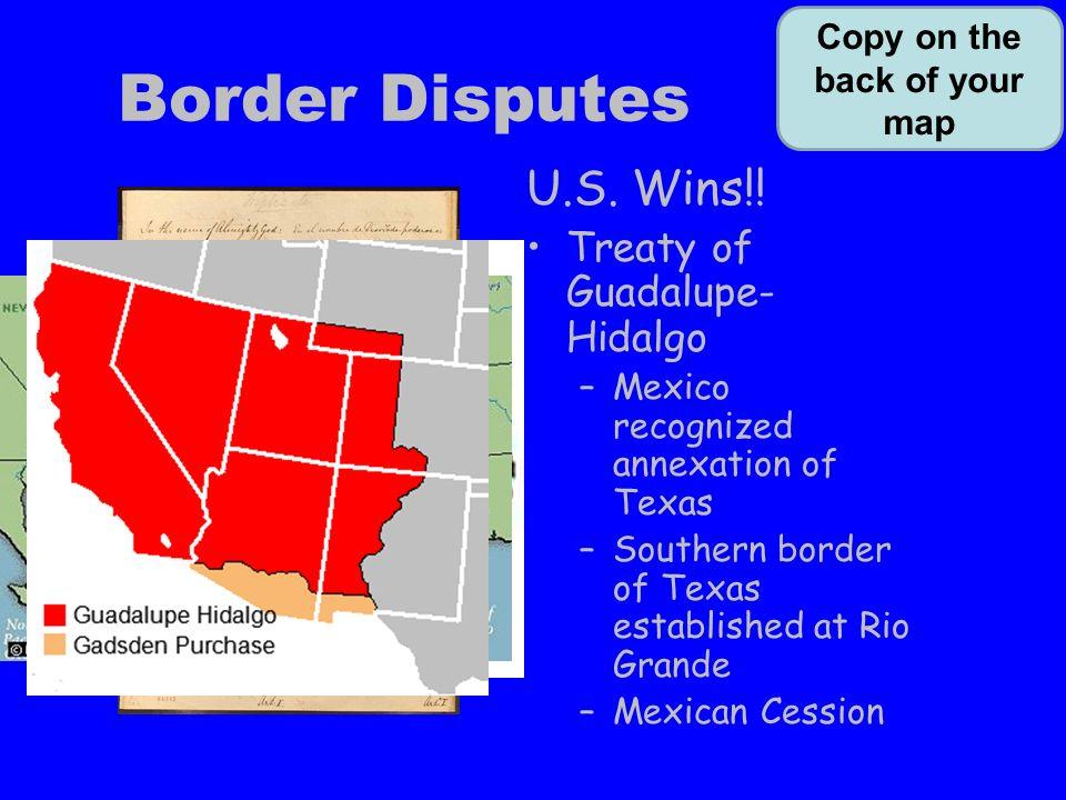 Border Disputes U S Wins