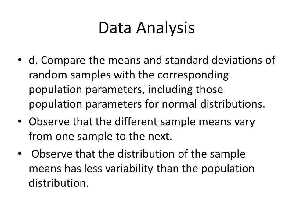 Data Analysis Student Text :Chapter 7. Data Analysis Mm2D1. Using