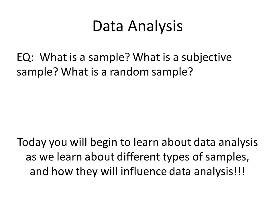 Data Analysis Student Text Chapter  Data Analysis MmD Using