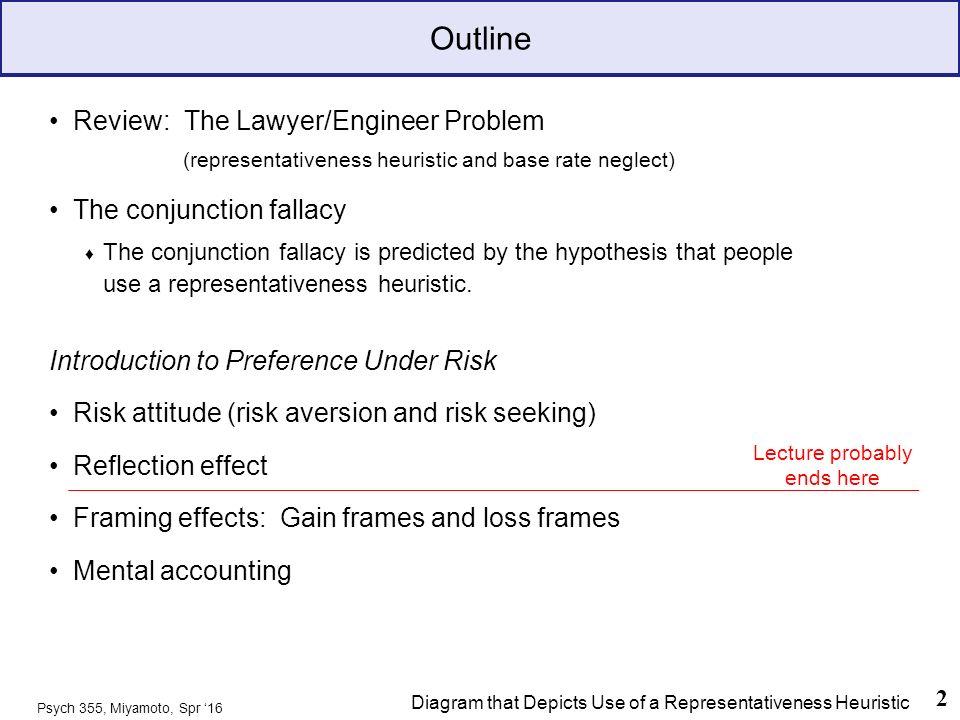 The Representativeness Heuristic then: Risk Attitude and Framing ...