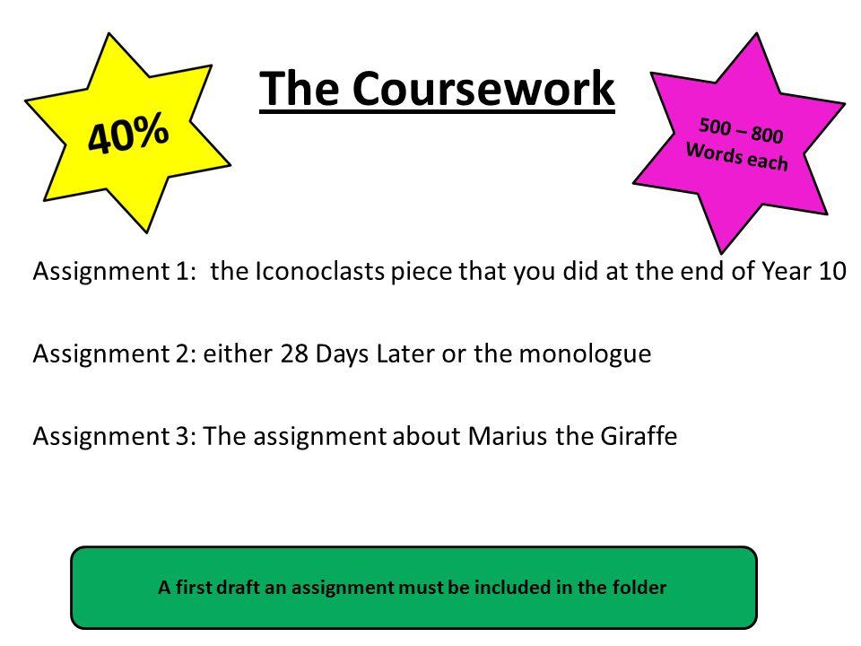 igcse coursework essays
