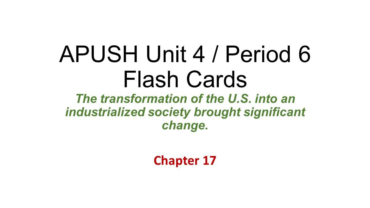 apush ch 19 essay