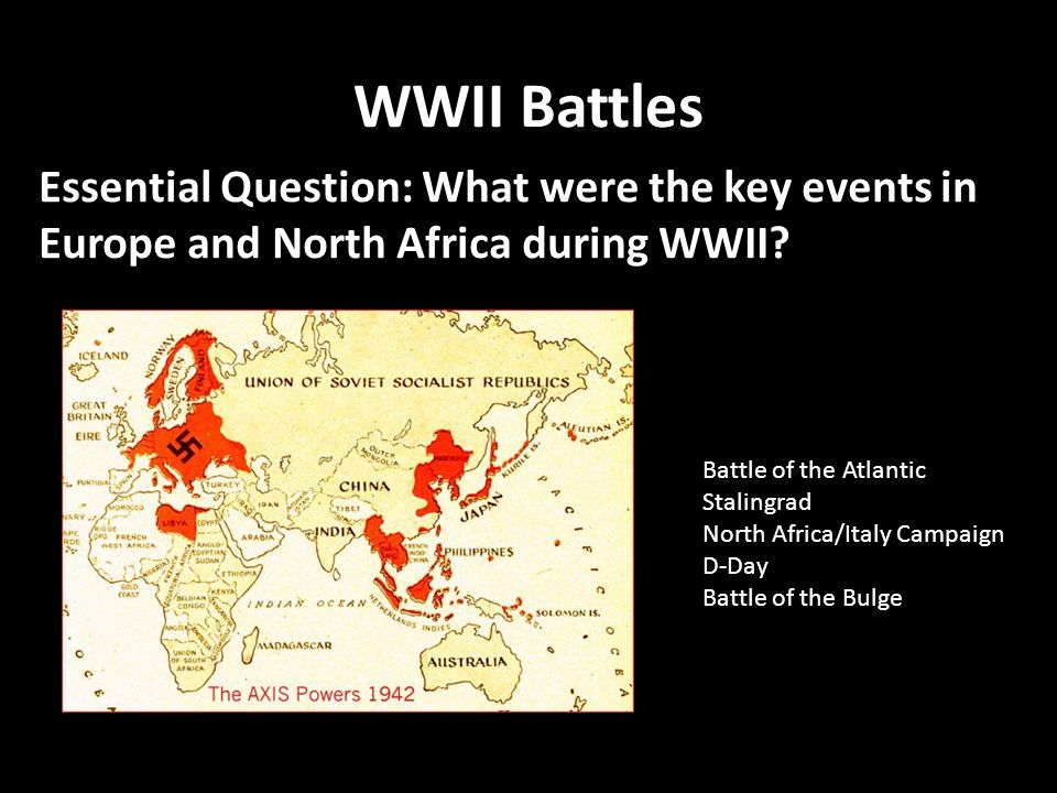 Wwii battles essential question what were the key events in wwii battles essential question what were the key events in europe and north africa during sciox Image collections