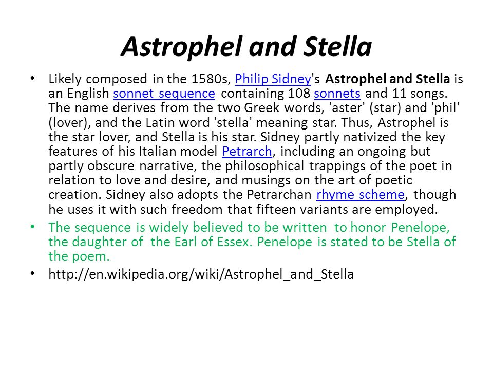 astrophel and stella