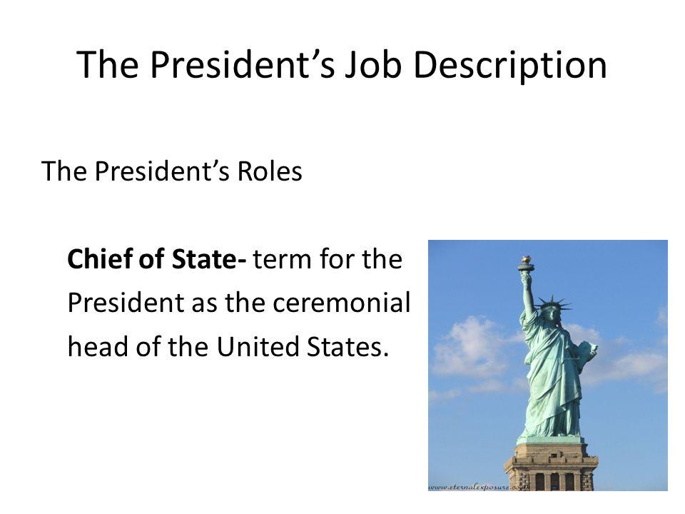 Executive Branch Bell Ringer Watch the Dear Mr President music – President Job Description