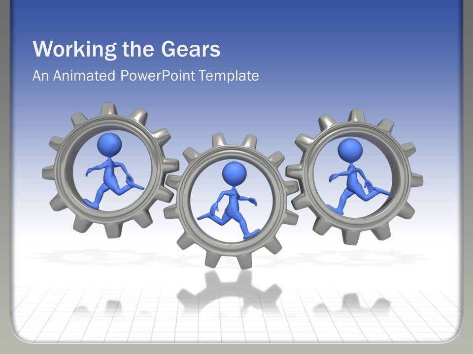 Working The Gears An Animated Powerpoint Template Ppt Download