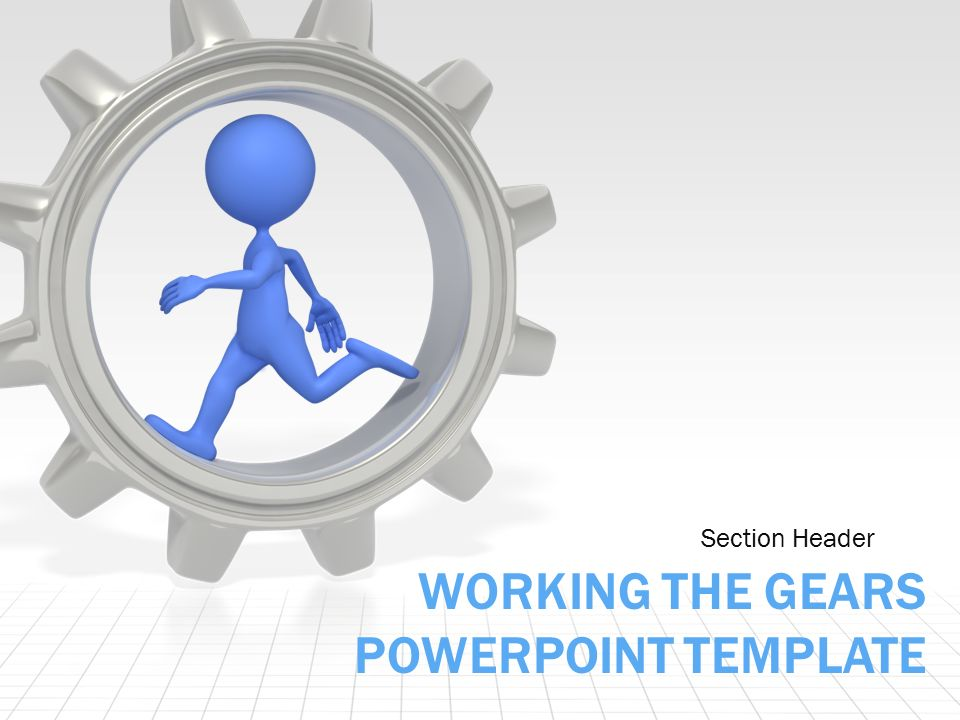 working the gears an animated powerpoint template. - ppt download, Presentation templates