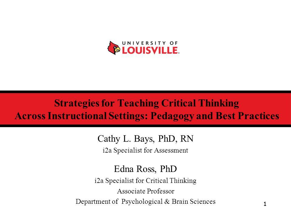 Strategies for teaching critical thinking skills