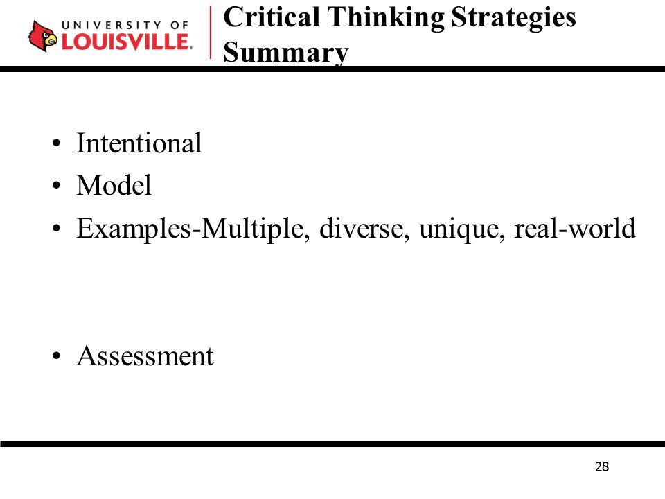 developing strategic thinking essay Creativity and strategic thinking: the coming competencies ann herrmann-nehdi ceo herrmann international 794 buffalo creek road lake lure, nc 28746.