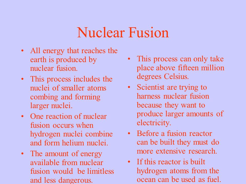 11.3 Nuclear Fusion and Fission. Nuclear Fission The splitting of ...