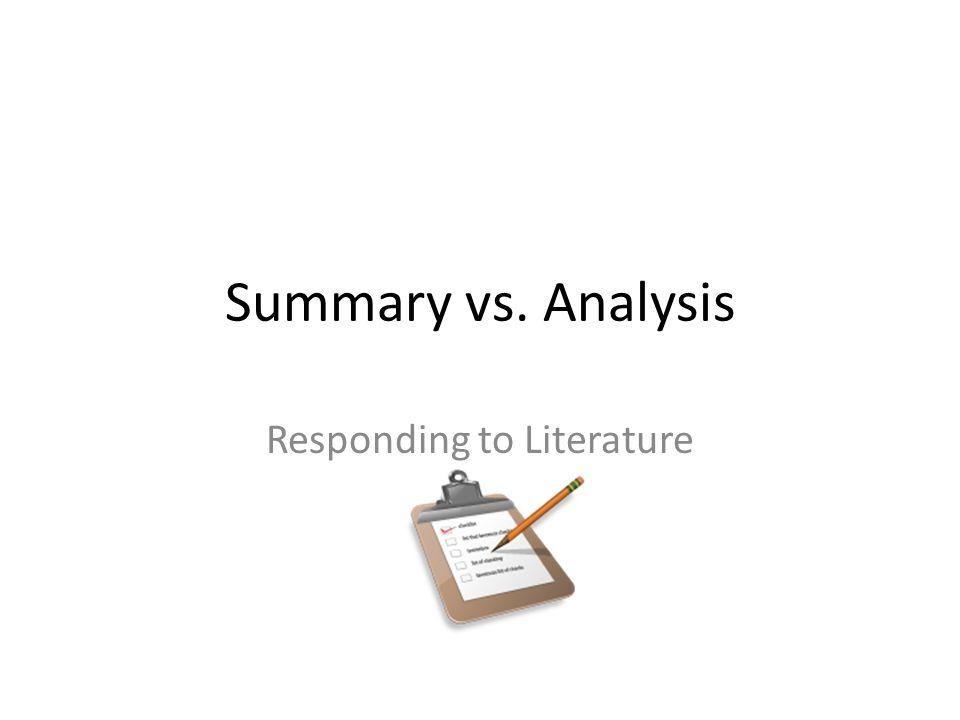 Literature summary