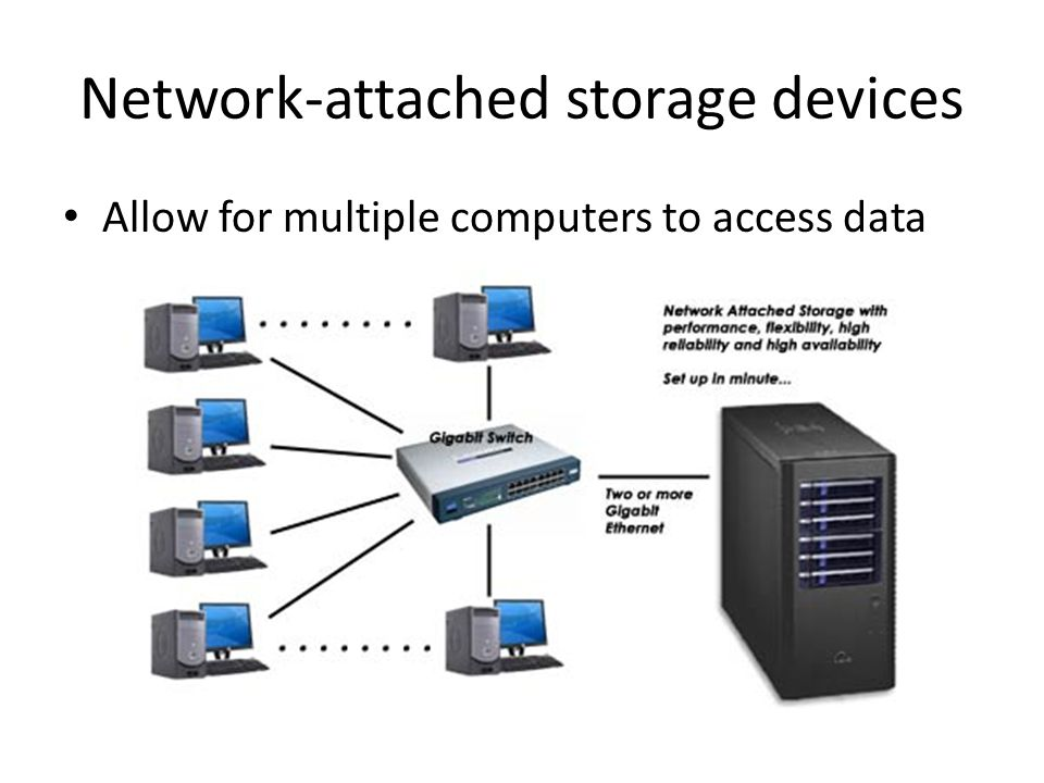 4 Network Attached Storage Devices Allow For Multiple Computers To Access Data