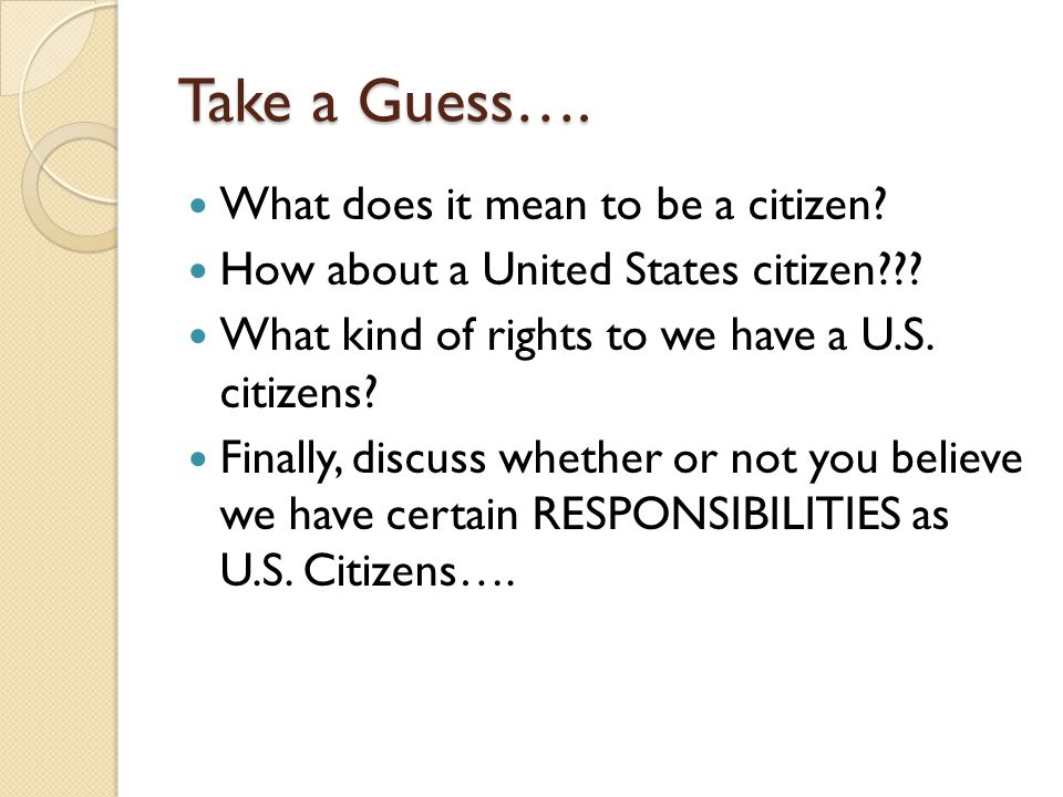What does it mean to be an active citizen?