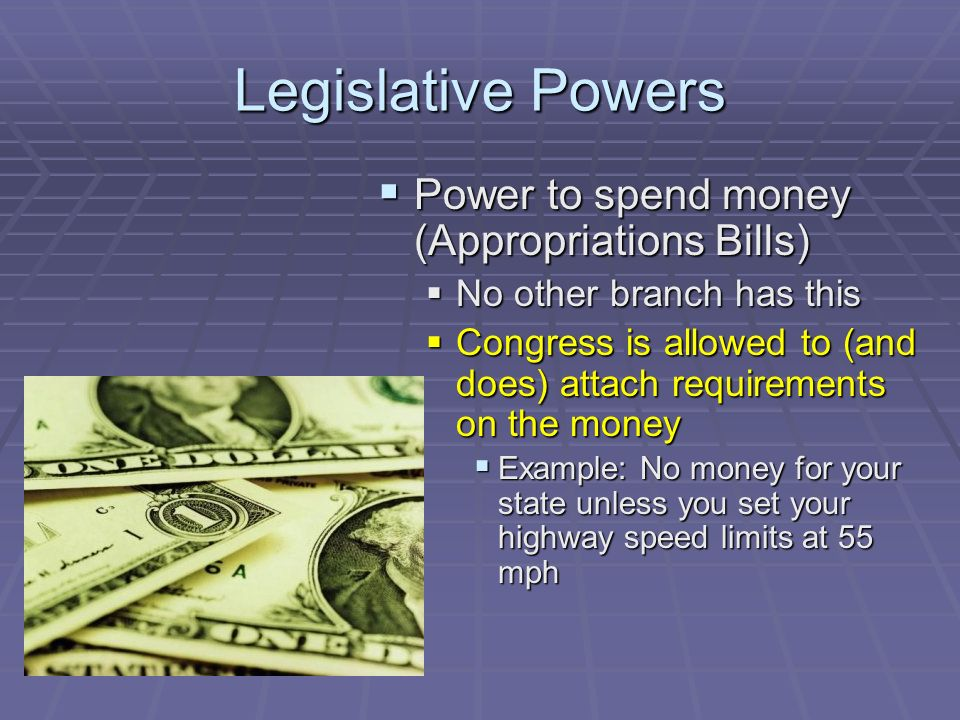 Congressional Powers Quick Review Expressed Powers Enumerated