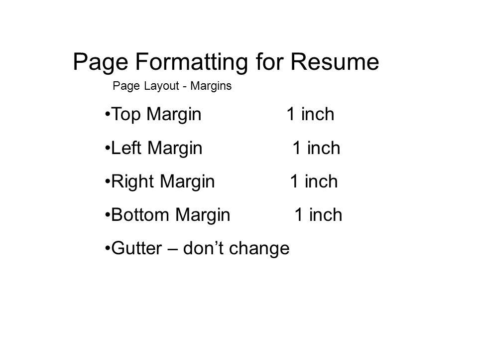 resume mrs jolliff cfm page formatting for resume top margin 1
