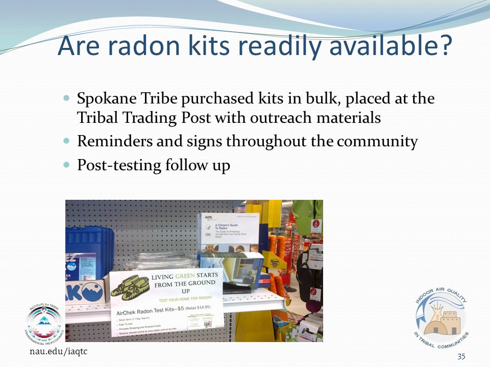 Are radon kits readily available.