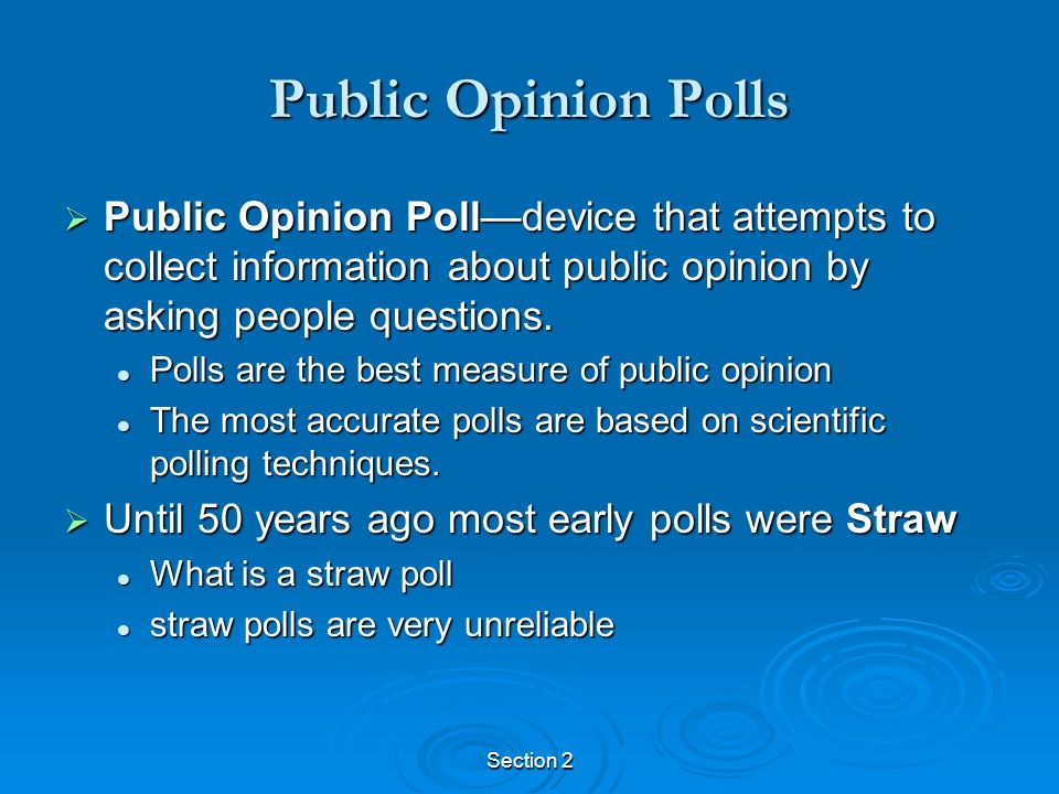 analysis of the importance of todays public opinion polls American public opinion in the surveying the public about a variety of important issues not mean scholars should ignore these early public opinion polls.