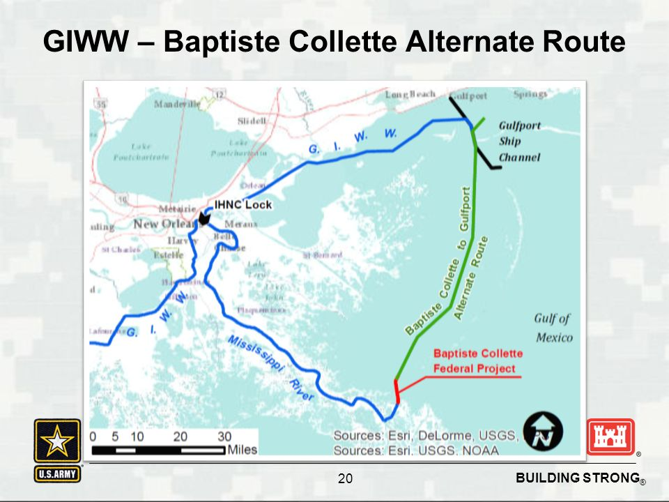 BUILDING STRONG ® GIWW – Baptiste Collette Alternate Route 20