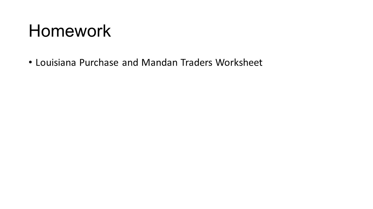Chapter 9 section 1 jefferson takes office republicans take 17 homework louisiana purchase and mandan traders worksheet robcynllc Image collections