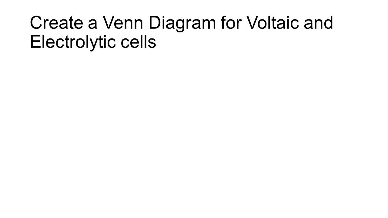 Redox review create a venn diagram for voltaic and electrolytic 2 create a venn diagram for voltaic and electrolytic cells pooptronica