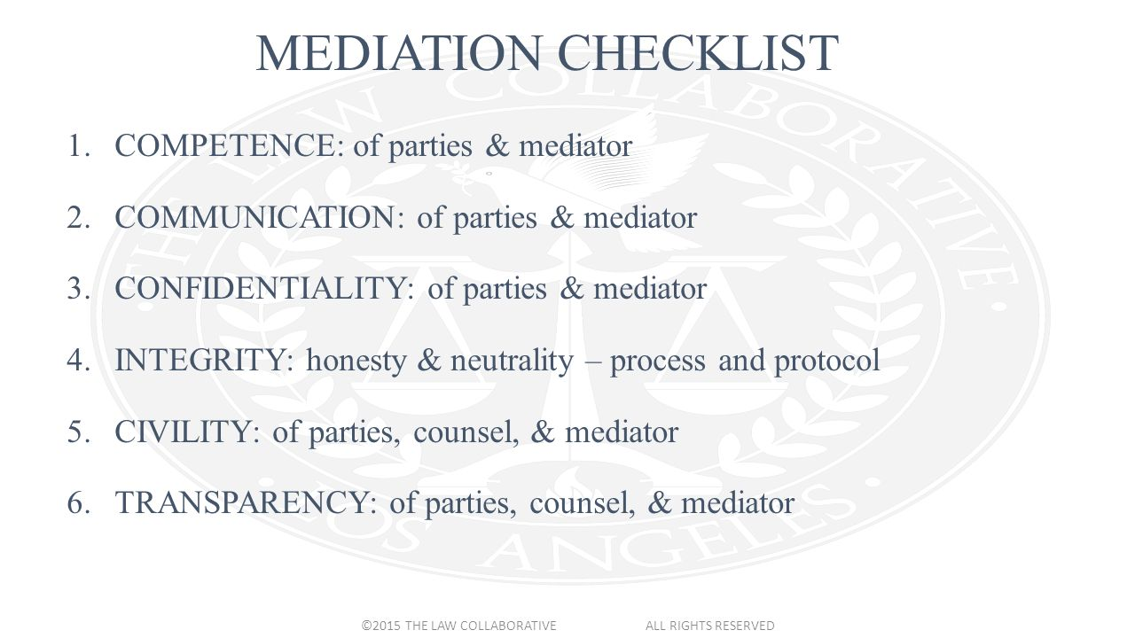 Ethical divorce mediation basics the ultimate checklist a 2 mediation solutioingenieria Choice Image