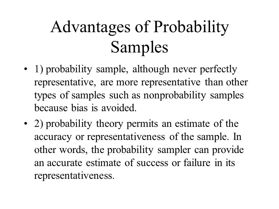 The Theory and Logic of Probability Sampling Nonprobability ...