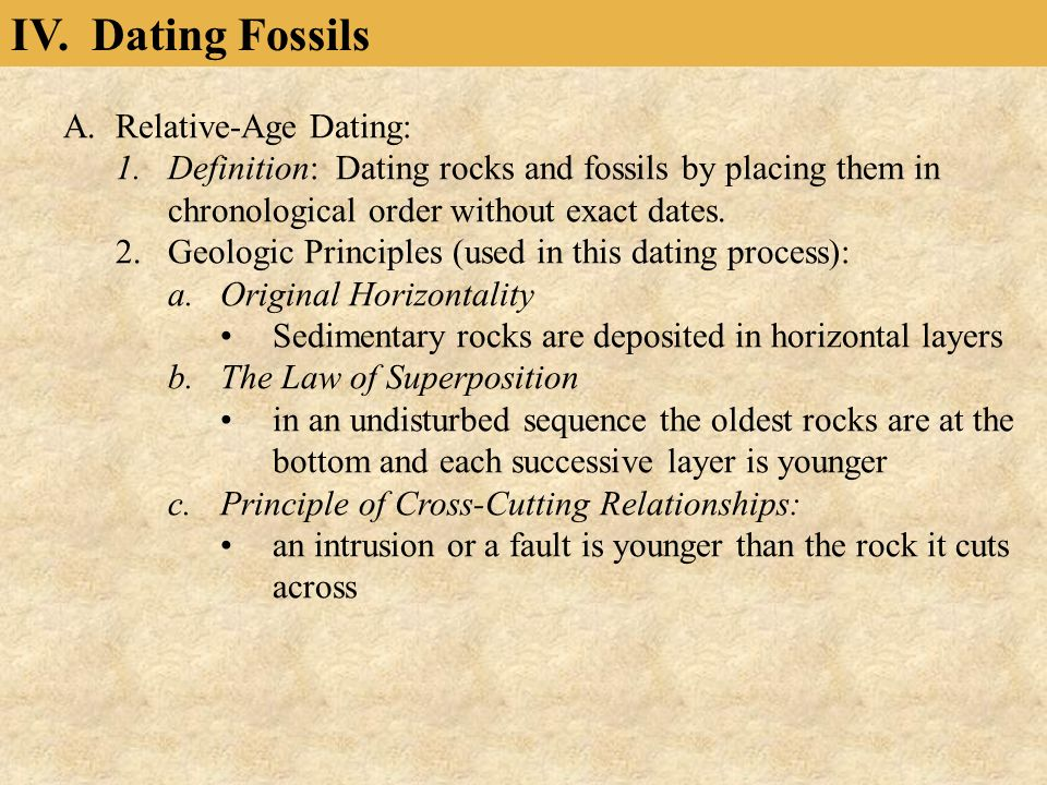 Relative dating meaning