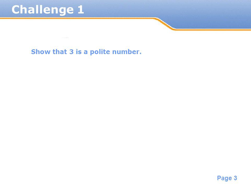 Powerpoint templates page 1 powerpoint templates 123 3 powerpoint templates page 3 challenge 1 show that 3 is a polite number toneelgroepblik Choice Image