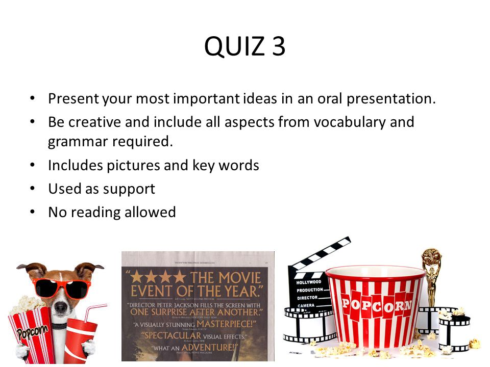 guidelines for quiz 3 oral presentation a movie review. - ppt download, Powerpoint templates