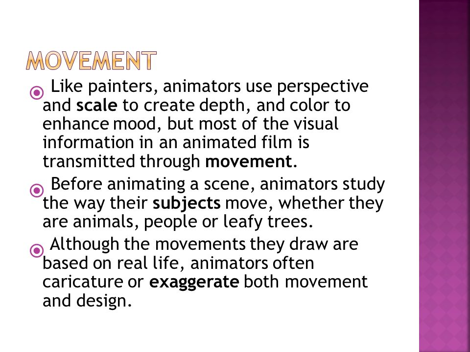 Colors And The Moods They Create animation unit.  like painters, animators use perspective and
