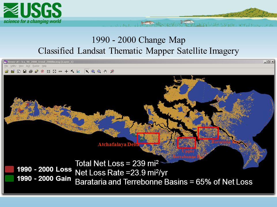 100 Years of Land Change for Coastal Louisiana By National