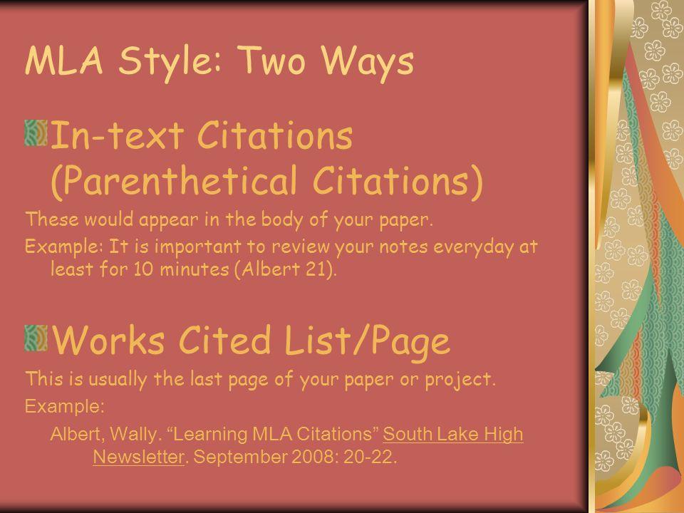 mla documentation modern language association how to write a works  3 mla