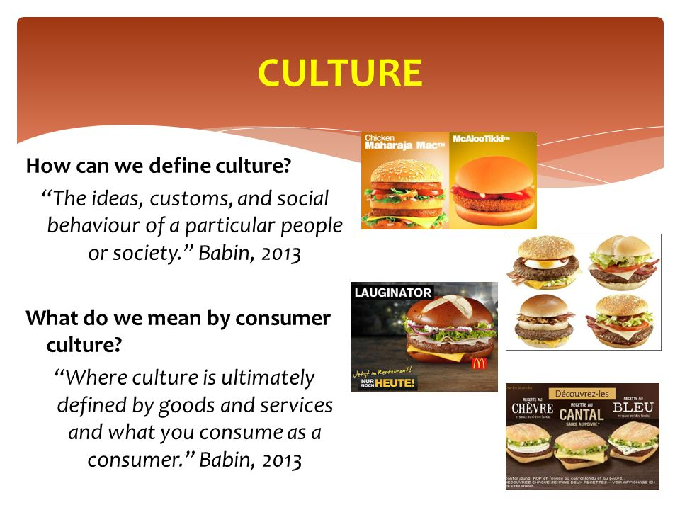 CULTURE How can we define culture.