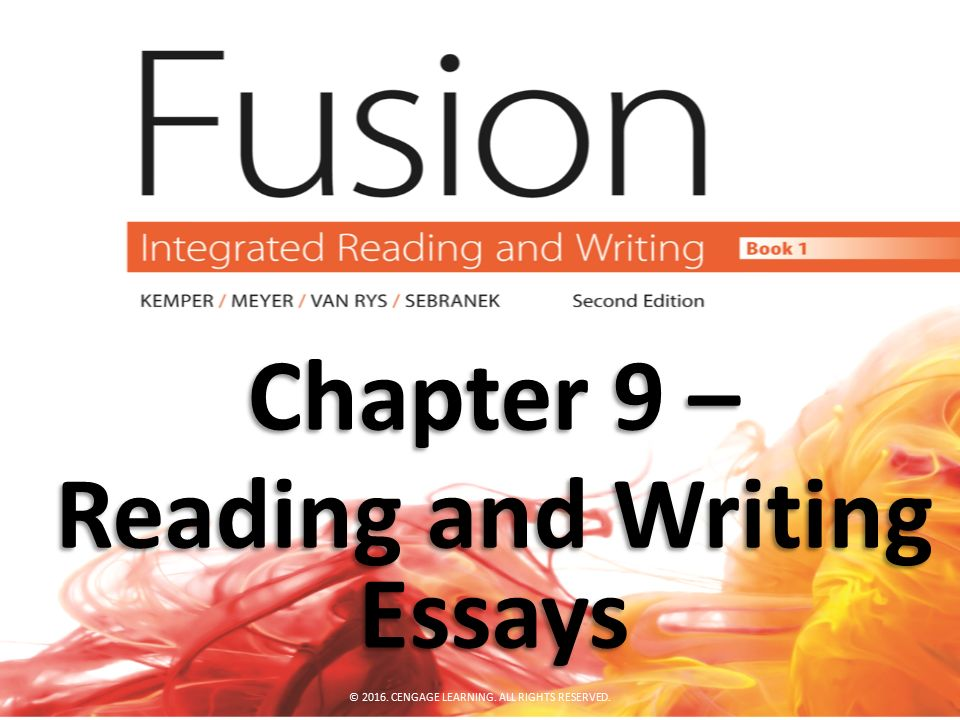 reading and writing essays Reading english and writing essays: a student's guide revised edition, september 2012 this booklet is intended to provide both generalized guidance for the study of english literature.