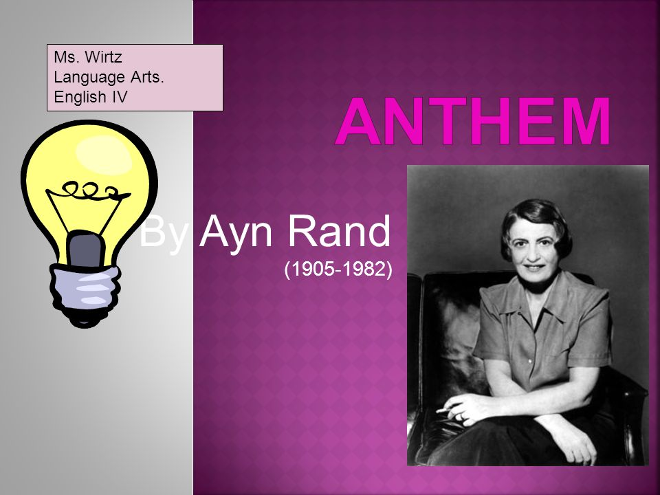 objectivism in anthem essay