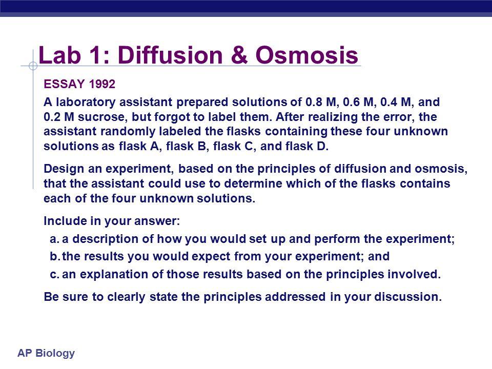 osmosis triple science essay