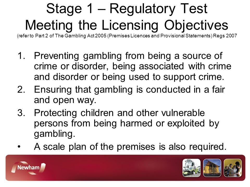 Gambling licensing objectives gambling offs