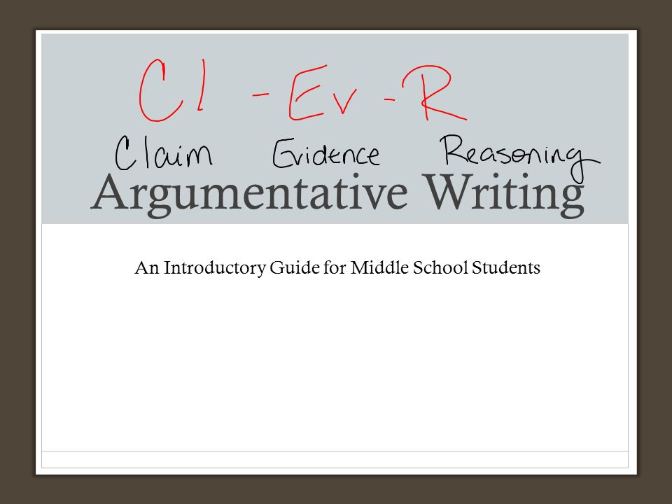 argumentative essay articles for middle school