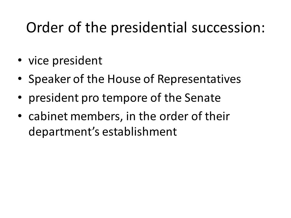 Presidential Cabinet Positions In Order Of Succession - Page 3 ...